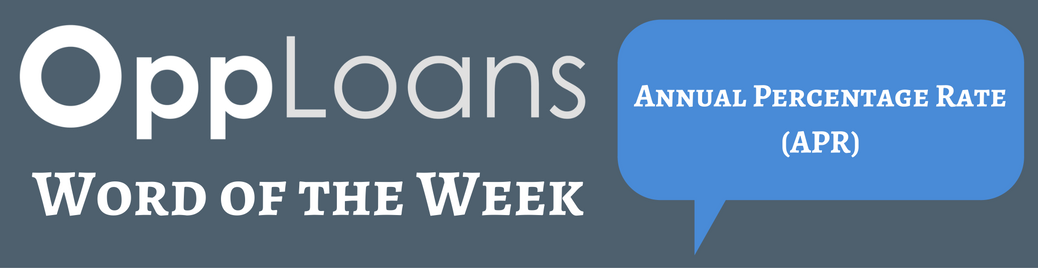 Annual Percentage Rate Word of the Week