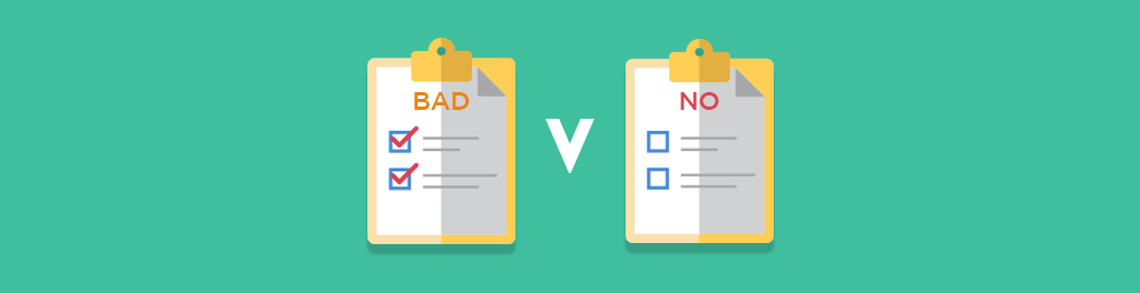bad credit versus no credit