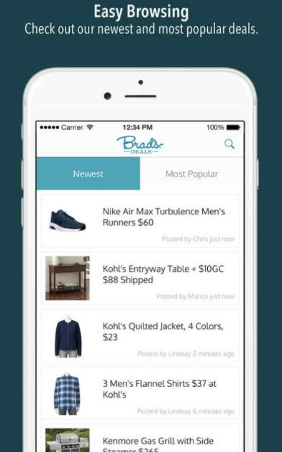 Brad's Deals app screenshot image 2