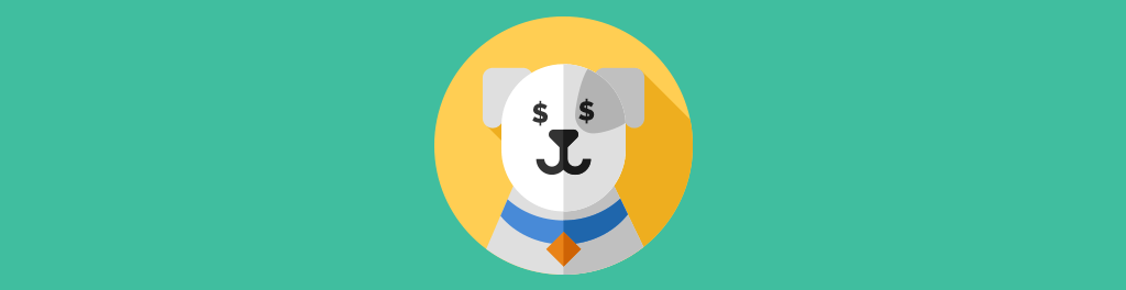 dog with dollar signs