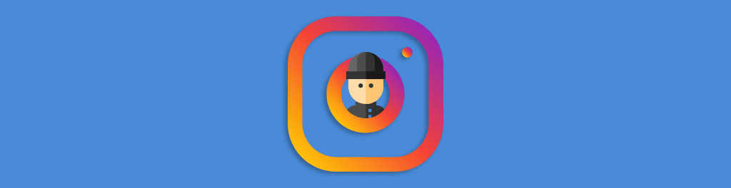 typical thief in an Instagram logo