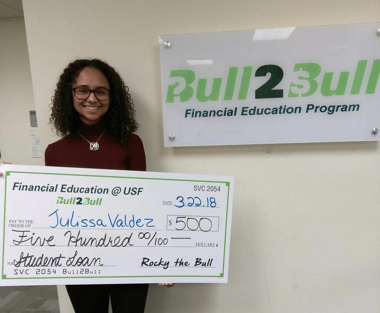USF Bull2Bull scholarship winner