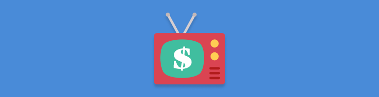 dollar sign on a tv
