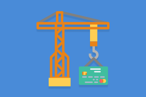 crane with a credit