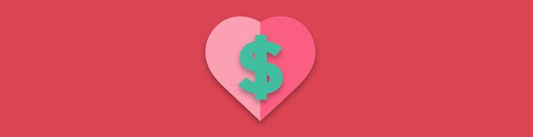 dollar sign in a heart