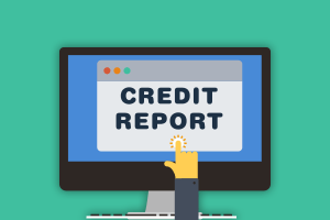 credit report on a computer