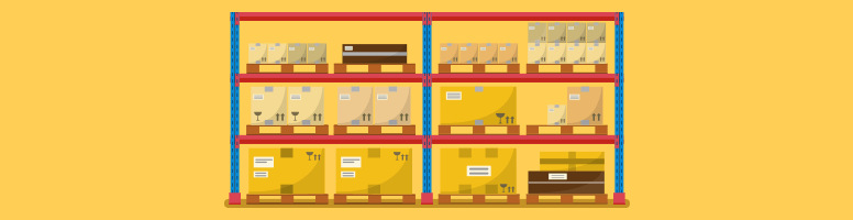 Grocery shelves lined with bulk products