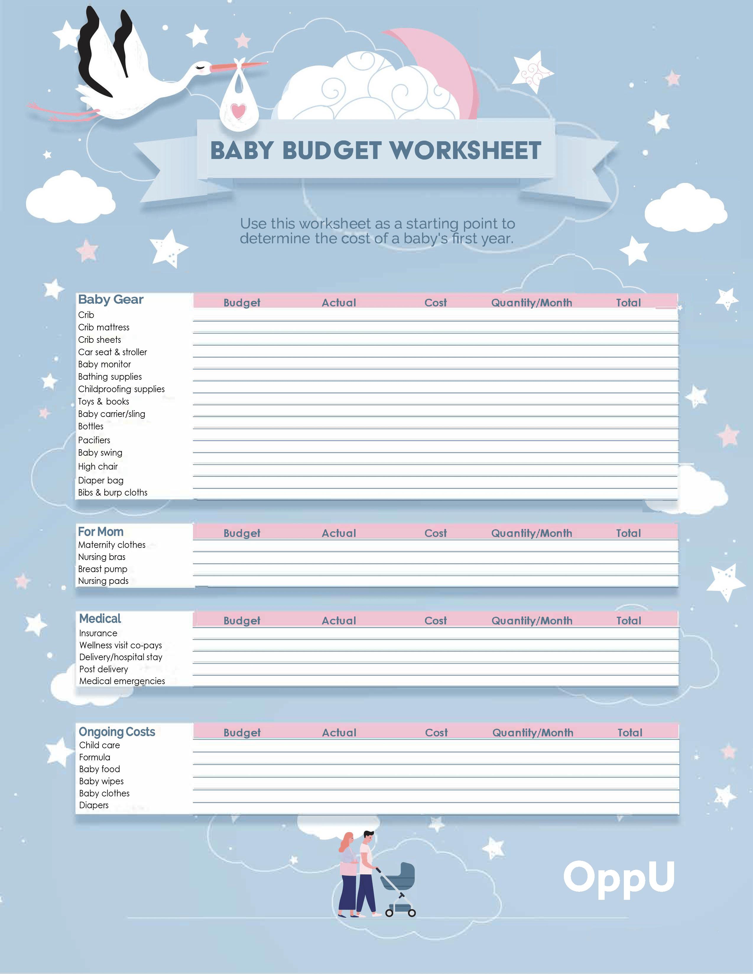 OppU Baby Budget Worksheet