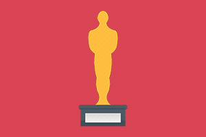 Drawing of an Academy Award, also called an Oscar