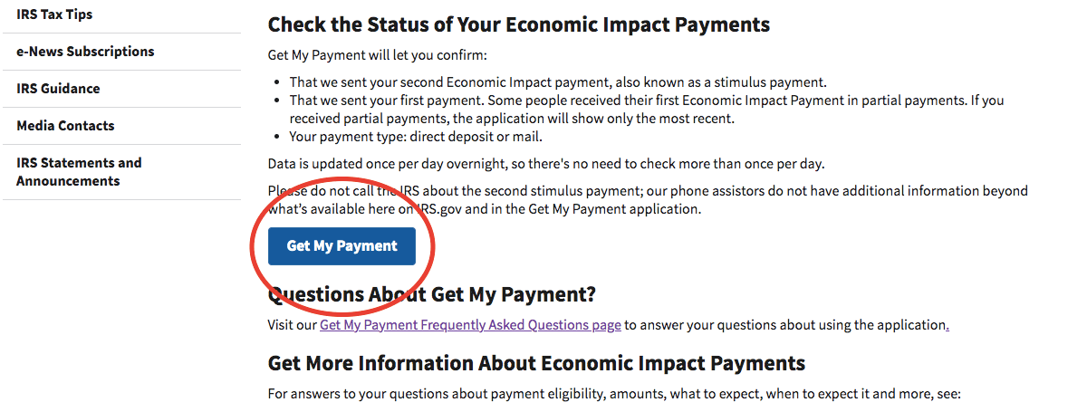 get my payment button